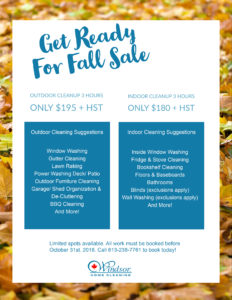fall sale windsor home cleaning